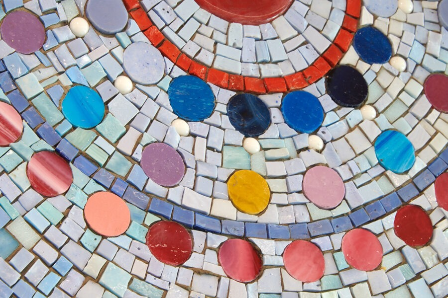WSH detail of flat colored rounds