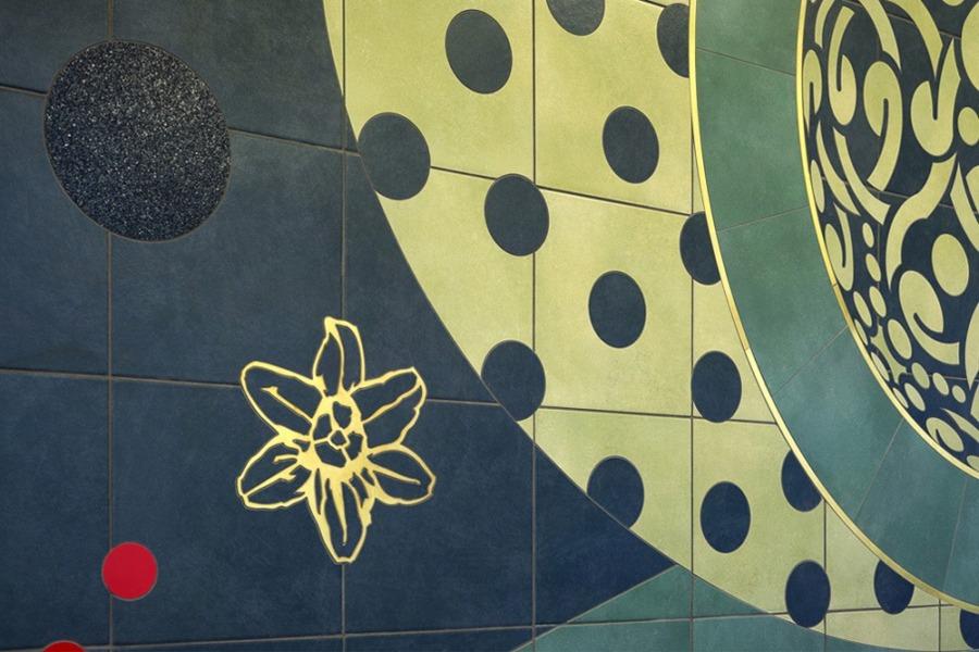Lambert-St. Louis Airport small mural detail
