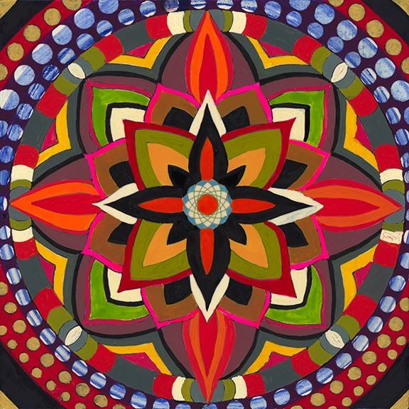 Wood Panel Mandala 001