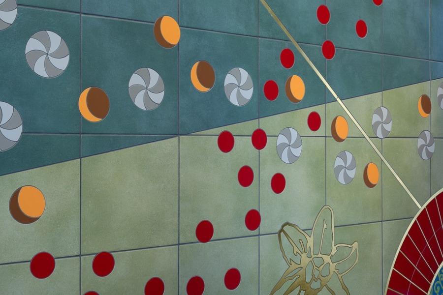 Lambert-St. Louis Airport large mural dots detail